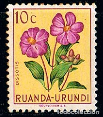 RUANDA URUNDI Nº 129, DISSOTIS, NUEVO *** (Sellos - Temáticas - Flora)