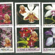 Sellos: SANTO TOME & PRINCIPE 2003 IVERT 1446/51 *** FLORA - ORQUIDEAS. Lote 215546896