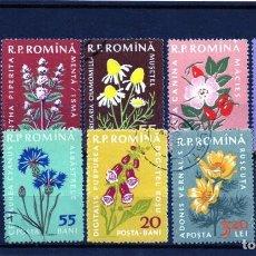 Sellos: ++ RUMANIA / ROMANIA / ROEMENIE AÑO 1959 YVERT NR.1652/61 USADA PLANTAS MEDICINALES. Lote 217486713