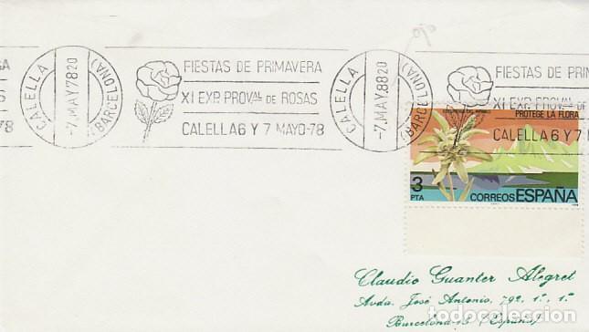 AÑO 1978, FIESTAS DE PRIMAVERA Y EXPOSICION DE ROSAS EN CALLEA, RODILLO CON ERROR AÑO 1978 EN UNO Y (Sellos - Temáticas - Flora)