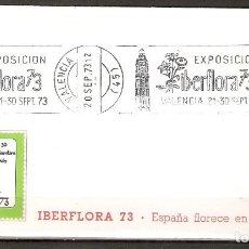 Sellos: ESPAÑA. 1973..IBERFLORA 73. VALENCIA .FLORA. FLORES. Lote 218599536