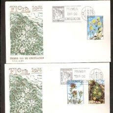 Sellos: ESPAÑA. 1974.SOBRE PRIMER DÍA. IBERFLORA 74. SERIE COMPLETA.. Lote 218601625
