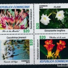 Sellos: DOMINICANA 2014 MICHEL 2366/9 *** FLORA DOMINICANA - FLORES DIVERSAS. Lote 218804603