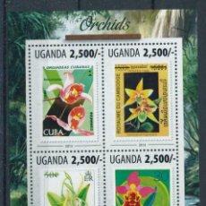 Sellos: UGANDA 2013 MICHEL 3123/6 *** FLORA - ORQUIDEAS. Lote 219275700