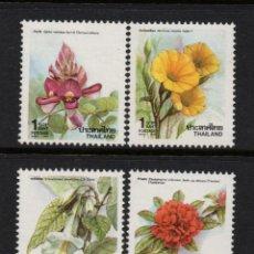 Timbres: TAILANDIA 1359/62** - AÑO 1990 - FLORA - FLORES - NAVIDAD. Lote 219877396