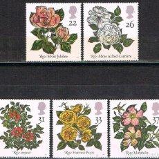 Sellos: GRAN BRETAÑA IVERT Nº 1551/5, ROSAS, NUEVO *** (SERIE COMPLETA). Lote 221109285