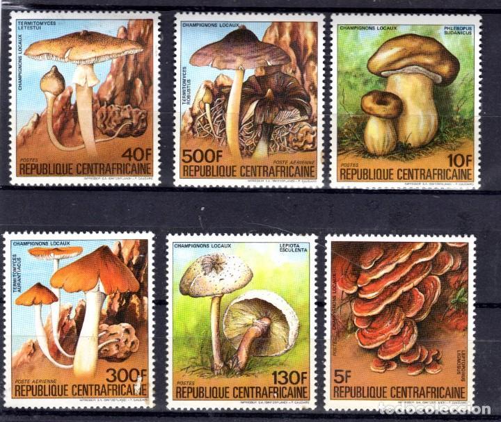 CENTRO AFRICA/1984/MNH/SC#673-8/ SETAS / HONGOS (Sellos - Temáticas - Flora)