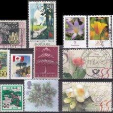 Sellos: LOTE DE SELLOS - FLORES - ARBOLES - PLANTAS - (AHORRA EN PORTES, COMPRA MAS). Lote 221704170