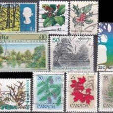 Sellos: LOTE DE SELLOS - BOSQUES - ARBOLES - PLANTAS - (AHORRA EN PORTES, COMPRA MAS). Lote 221704255
