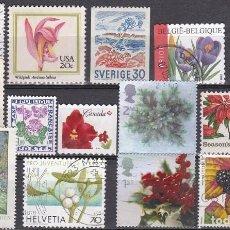 Sellos: LOTE DE SELLOS - FLORES - FLORA - PLANTAS - (AHORRA EN PORTES, COMPRA MAS). Lote 221704420
