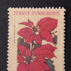 Sellos: 1997 TURQUÍA PLANTAS EUPHORBIA PULCHERRIMA. Lote 221941841