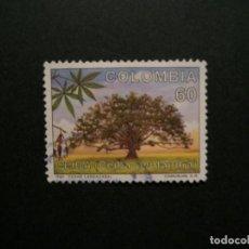 Selos: /24.10/-COLOMBIA-1990-60 P. Y&T 956 SERIE COMPLETA EN USADO/º/-ARBOLES. Lote 222158896