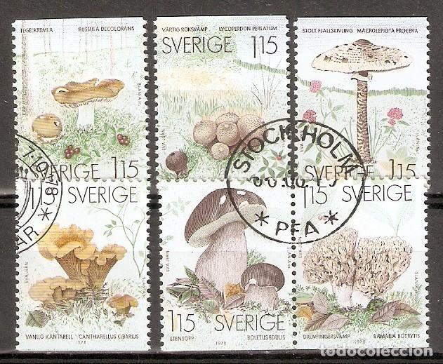 SUECIA. 1978. YT 1021/1026. SETAS (Sellos - Temáticas - Flora)