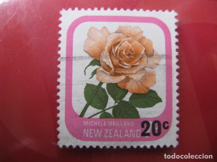 +NUEVA ZELANDA, 1980, ROSAS DE NUEVA ZELANDA, SELLO SOBRECAGADO YVERT 777 (Sellos - Temáticas - Flora)