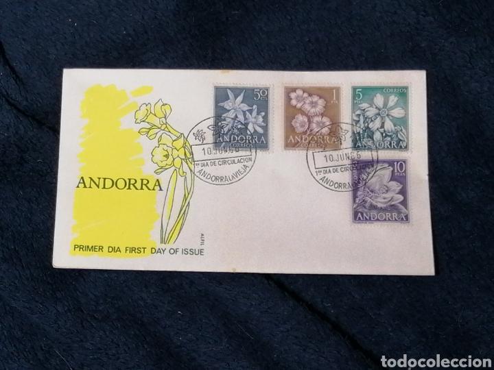 Sellos: Flores Andorra España 1966 sellos, sobres, Postales, SPD - Foto 2 - 241049175