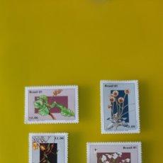 Sellos: FLORES BRASIL SERIE COMPLETA NUEVA YVERT 1496/99 FILATELIA COLISEVM. Lote 224142996