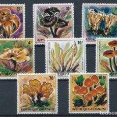 Sellos: RWANDA 1980 IVERT 941/8 *** FLORA - CHAMPIÑONES - SETAS. Lote 226597565