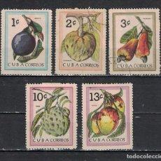 Sellos: 860-3 CUBA 1963 NG THE CUBAN FRUITS. Lote 228166125