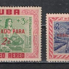 Sellos: 641-2 CUBA 1960 MNH STAMPS OF 1959 SURCHARGED. Lote 228166777