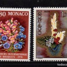 Sellos: MONACO 1115/16** - AÑO 1977 - FLORA - FLORES - CONCURSO INTERNACIONAL DE RAMOS. Lote 228368715