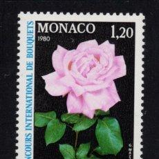 Sellos: MONACO 1200** - AÑO 1979 - FLORA - FLORES - ROSAS - ROSA PRINCESA GRACE. Lote 228368720