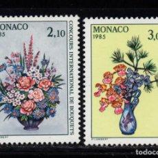 Sellos: MONACO 1448/49** - AÑO 1984 - FLORA - FLORES - CONCURSO INTERNACIONAL DE RAMOS. Lote 228368745