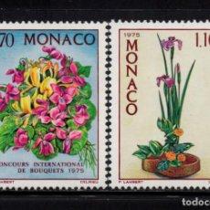 Sellos: MONACO 984/85** - AÑO 1974 - FLORA - FLORES - CONCURSO INTERNACIONAL DE RAMOS. Lote 228368780