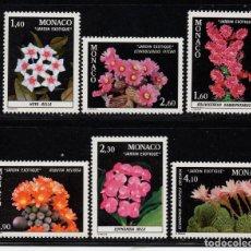Sellos: MÓNACO 1306/11** - AÑO 1982 - FLORA - FLORES Y PLANTAS DEL JARDIN EXÓTICO. Lote 228368800