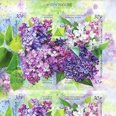 Sellos: RUS2328-31ML RUSSIA 2018 MNH FLORA OF RUSSIA. LILAC. Lote 229932945