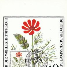 Sellos: ALEMANIA BERLIN IVERT Nº 592, OJO DE PERDIZ, TARJETA MAXIMA DE 9-10-1980. Lote 231210430