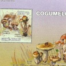 Sellos: GUINEA 2010 HOJA BLOQUE SELLOS FLORA HONGOS- CHAMPIGNONES- MUSHROOMS- SETAS. Lote 235373105