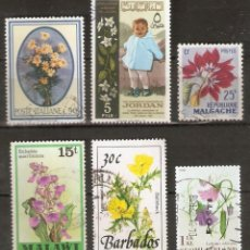 Timbres: VARIOS. FLORES.. Lote 237828835