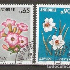 Timbres: ANDORRA FRANCESA. 1974. FLORES. Lote 238817175