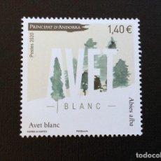 Sellos: ANDORRA FRANCESA AÑO 2020 ABETO BLANCO, ABIES ALBA. Lote 241315935