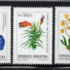Sellos: ARGENTINA 1435/37** - AÑO 1984 - FLORA - FLORES. Lote 243409155