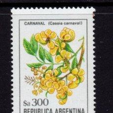 Sellos: ARGENTINA 1466** - AÑO 1984 - FLORA - FLORES. Lote 243409480