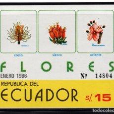 Sellos: ECUADOR HB 71** - AÑO 1986 - FLORA - FLORES. Lote 243410605