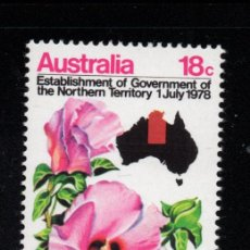 Sellos: AUSTRALIA 635** - AÑO 1978 - FLORA - FLORES - ROSA DEL DESIERTO. Lote 243860690