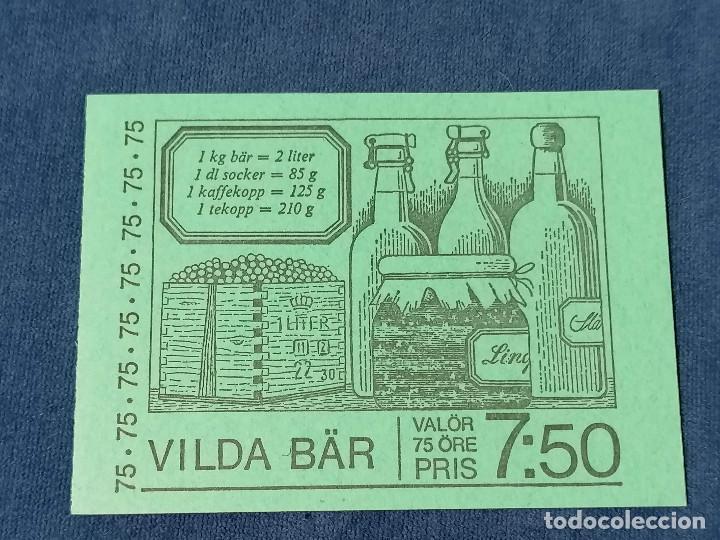 Sellos: Flores Suecia Carnet Yvert 975/9 año 1977 sellos nuevos perfectos *** - Foto 5 - 244445200