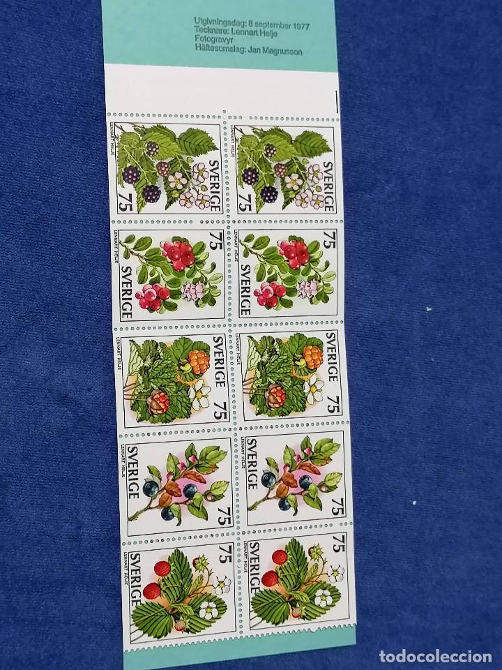 FLORES SUECIA CARNET YVERT 975/9 AÑO 1977 SELLOS NUEVOS PERFECTOS *** (Sellos - Temáticas - Flora)