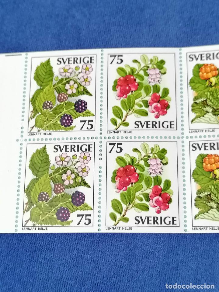 Sellos: Flores Suecia Carnet Yvert 975/9 año 1977 sellos nuevos perfectos *** - Foto 2 - 244445200