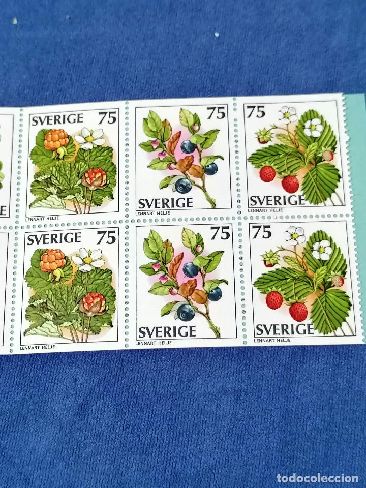 Sellos: Flores Suecia Carnet Yvert 975/9 año 1977 sellos nuevos perfectos *** - Foto 3 - 244445200