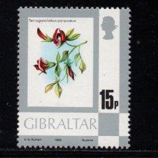 Sellos: GIBRALTAR 415** - AÑO 1980 - FLORA - FLORES. Lote 244556985