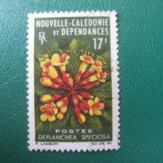 Sellos: NUEVA CALEDONIA, 1964, FLORES, YVERT 321. Lote 244581585