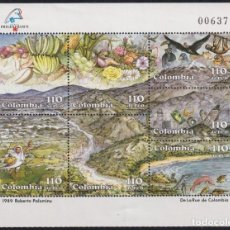 Sellos: F-EX22486 COLOMBIA MNH 1989 SPECIAL SHEET ROBERTO PALOMINO FLOWER BIRD AVES. Lote 244621975