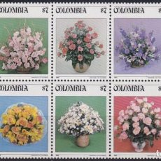 Sellos: F-EX22485 COLOMBIA MNH 1982 SPECIAL BLOCK 10 FLOWER FLORES.. Lote 244621995