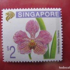 Sellos: +SINGAPUR, FLORES, VANDA MARLIE DOLERA. Lote 244666560