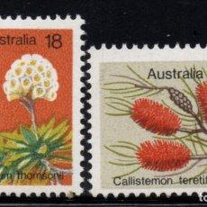 Sellos: AUSTRALIA 576/77** - AÑO 1975 - FLORA - FLORES. Lote 245060560