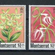 Sellos: MONSERRAT 1985 IVERT 565/8 *** FLORA - ORQUIDEAS. Lote 250215215
