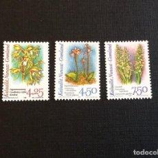 Sellos: GROENLANDIA Nº YVERT 263/5*** AÑO 1996. FLORA. ORQUIDEAS. Lote 252076480